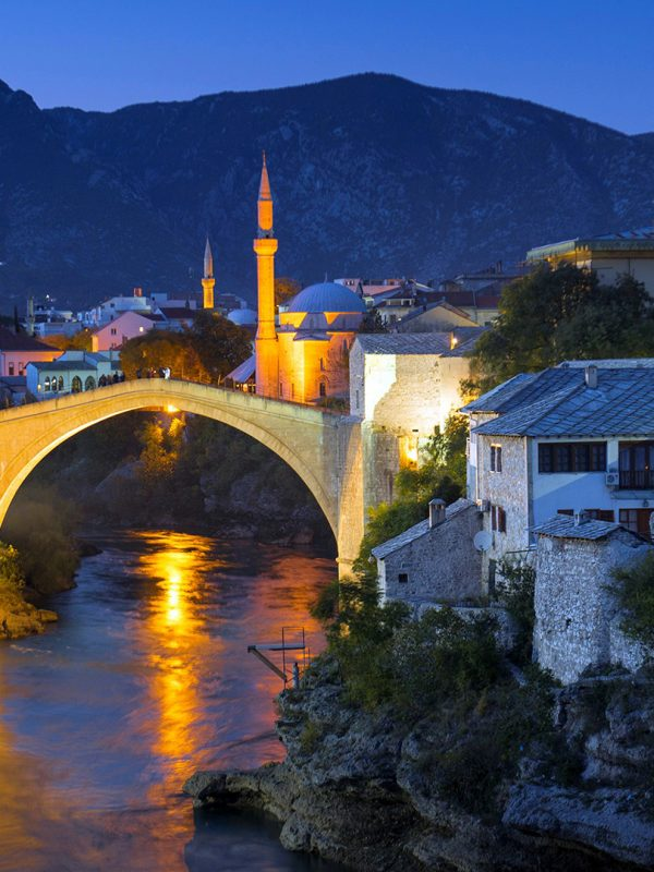 Mostar - Old Bridge at night